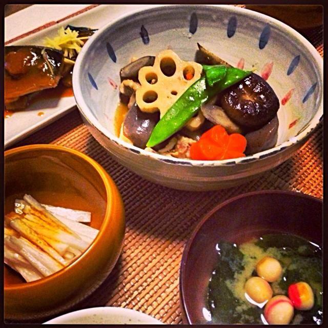 久しぶりに週末休み〜ヾ(*´▽`*)ノ - 87件のもぐもぐ - 煮物づくし。筑前煮と鯖味噌煮。 by cocoatea