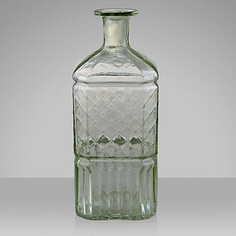Buy John Lewis Vintage Glass Bottle, Green Online at johnlewis.com