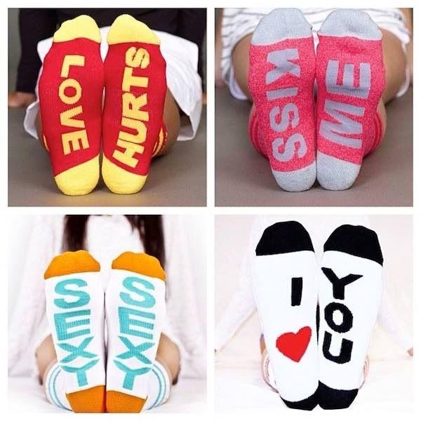 Arthur George socks by Robert Kardashian for Valentines Day