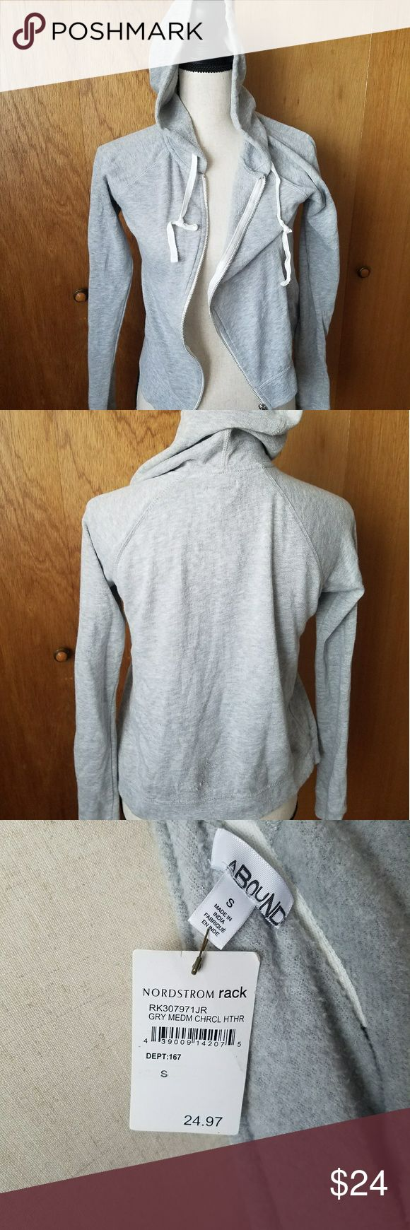 Heather Grey Small Zip Up Sweater Small sweater.  Cute with some classic Adidas shoes  Great for summer BBQs Bought from Nordstrom Rack. Never worn.  Tags: sporty grey gray comfortable slacks laid back athletic neutral Sweaters