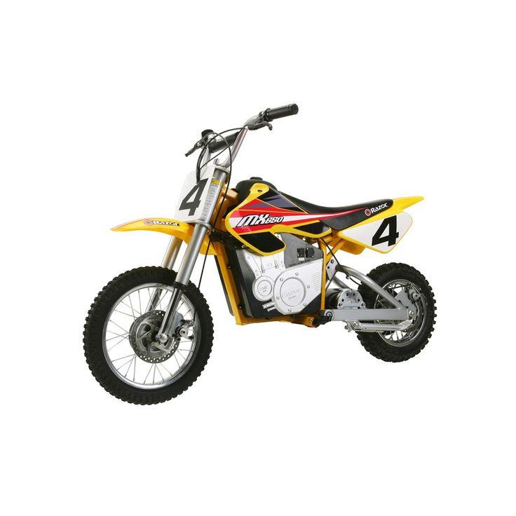 razor mx electric dirt bike yellow moto elctrica