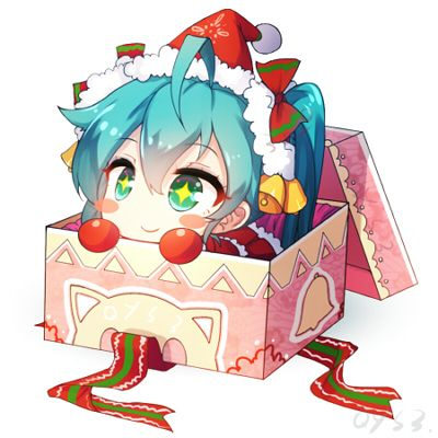 Image result for anime chibi present box