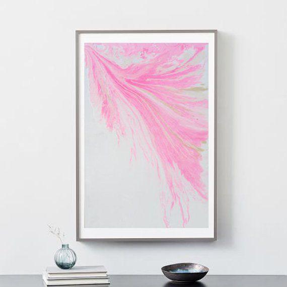 Hot Pink Abstract Artmminimalist Artmodern Home Decor Wall Etsy Pink Abstract Art Hot Pink Abstract Art Hot Pink Wall Art