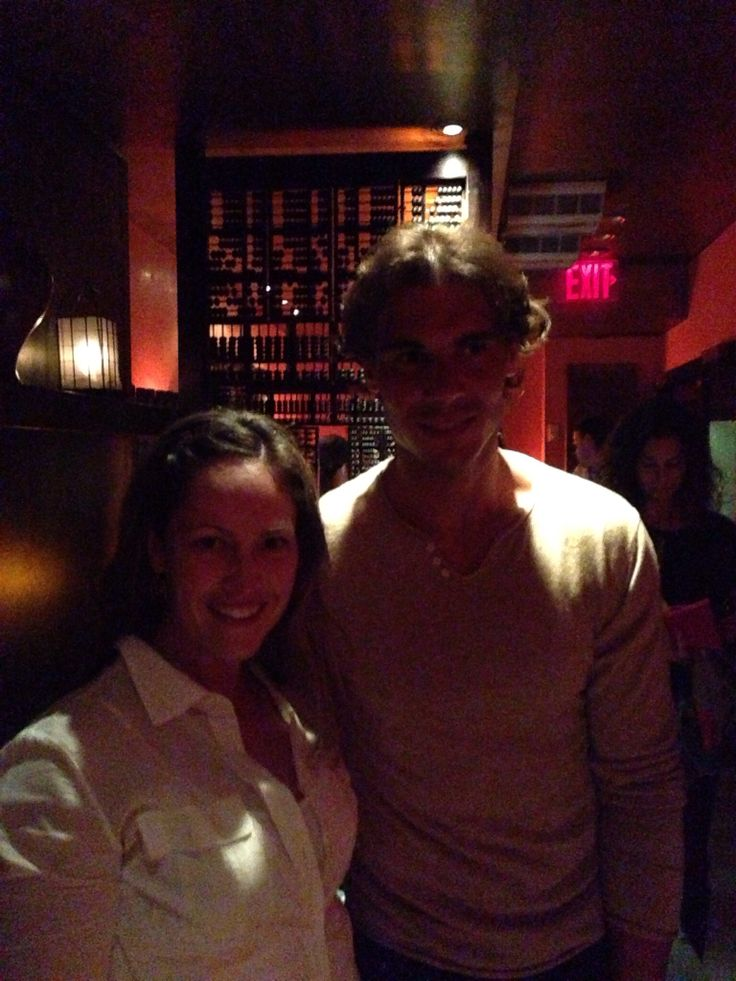 Wife with Rafael Nadal