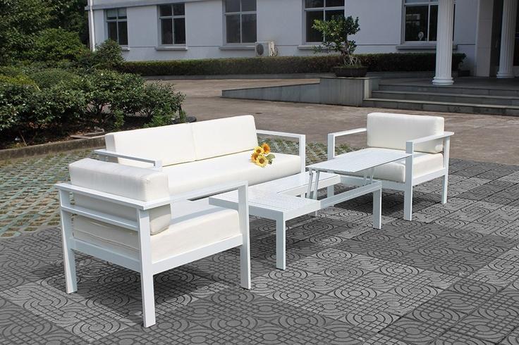 Loungeset - Tuinmeubelen - Outdoor Furniture ++ WHITE - WIT