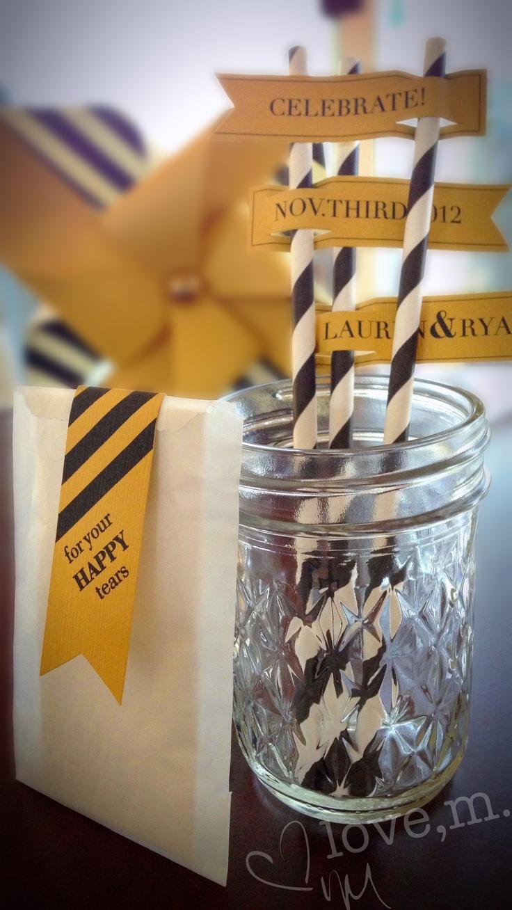 paper straw invitations
