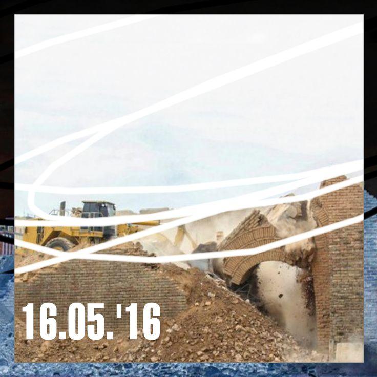 Bruno Capatti,  16.05.'16 - Iraq, i bulldozer dell'Isis demoliscono il sito archeologico assiro di Ninive - Iraq, i bulldozer dell'Is demoliscono il sito archeologico assiro di Ninive