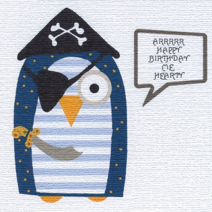 """""""Pirate Birthday Owl"""" A real Birthday surprise, who would have thought it! Blank inside."""