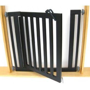 Modern design, durable dog gate installs in seconds.