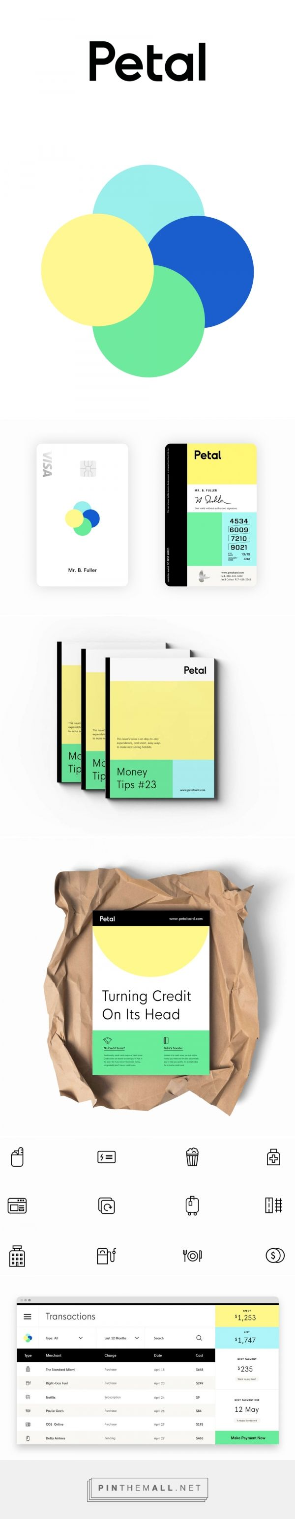 Brand New: New Logo and Identity for Petal by David McGillivray... - a grouped images picture - Pin Them All