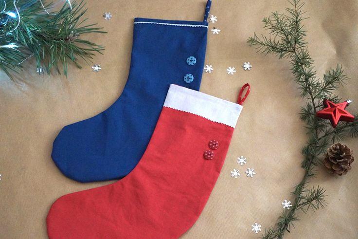 Chaussettes de Noël DIY Frou-Frou par le Dé Cousu