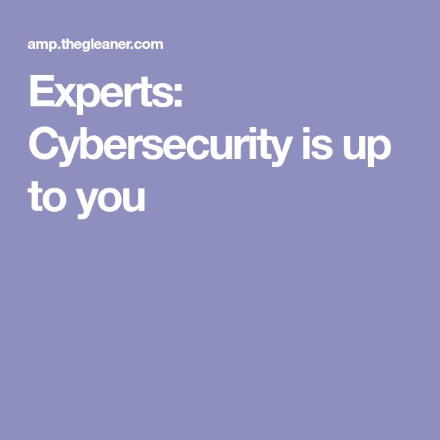 Experts: Cybersecurity is up to you