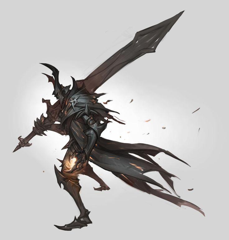 Dark souls fanart, Shuohan Zhou on ArtStation at https://www.artstation.com/artwork/JbA0Z
