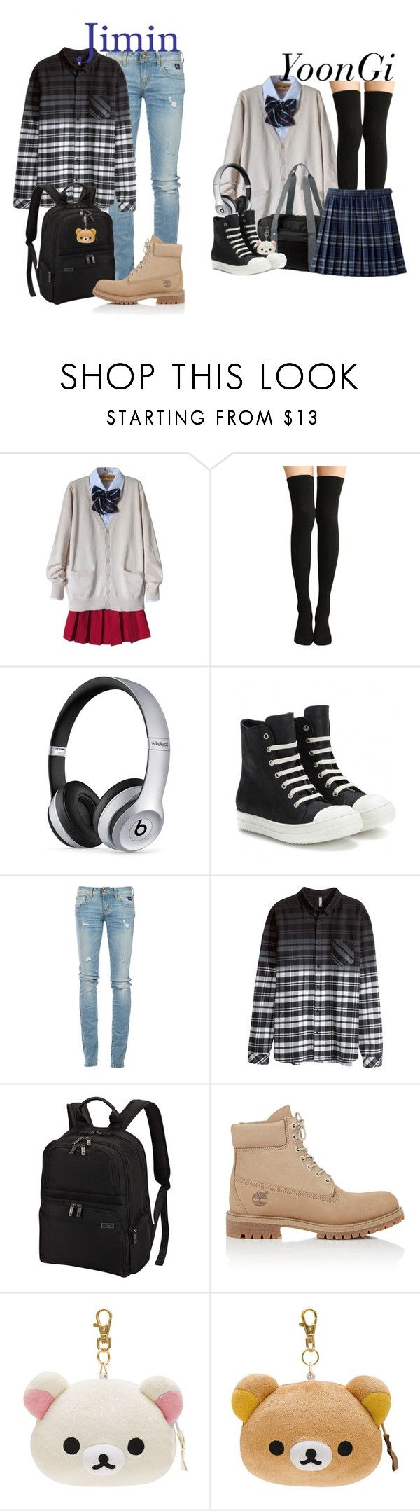 """Yoonmin"" by cristinalvarez ❤ liked on Polyvore featuring Beats by Dr. Dre, Rick Owens, RoÃ¿ Roger's, H&M, Victorinox Swiss Army and Timberland"