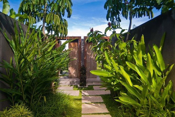 Bali Villa Photography - Komea Villas - entrance walkways daytime lighting