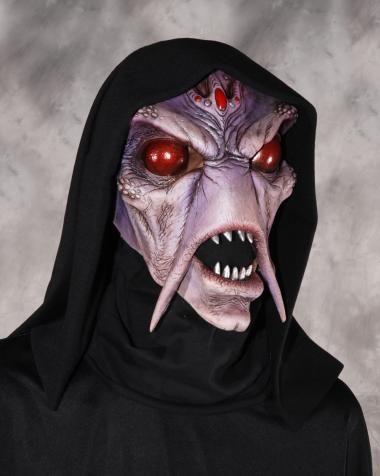 alien invader latex horror mask with hood halloween - Alien Halloween Masks