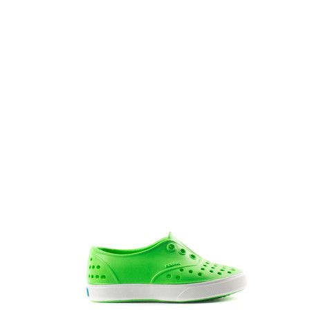 NATIVE SHOES MILLER CHILD ACID GREEN SHELL WHITE 13100200-3424 | Solestop.com