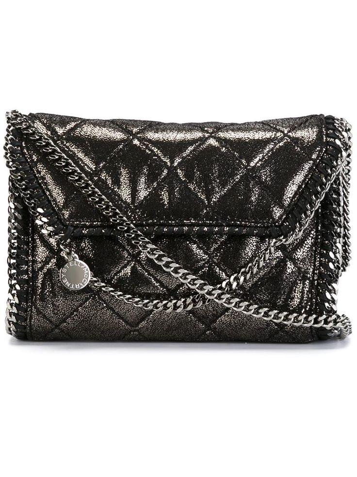 Stella mccartney 'Falabella' Quilted Crossbody Bag in Silver (METALLIC)
