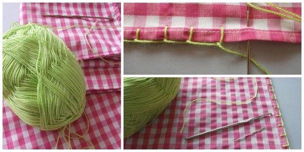 Mantel y servilletas de tela con puntilla a ganchillo hecho a mano tutorial hazlo tu mismo diy accesorios complementos lolahn handmade - coser festón