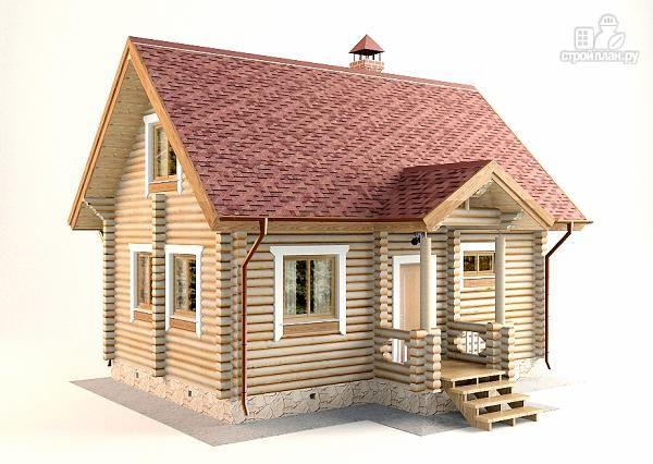 Фото 4: проект дом-баня с двумя спальнями 5.6х8.2 м
