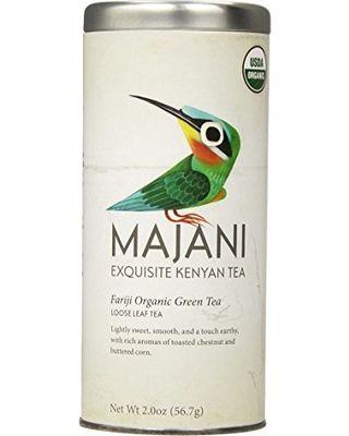 Sweet Deal on Majani Teas Fariji Organic Green Tea, Tin, 3.5 Ounce