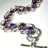 Purple chainmaille bracelet