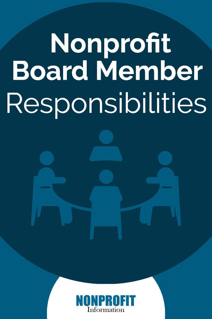 Nonprofit board member responsibilities nonprofit