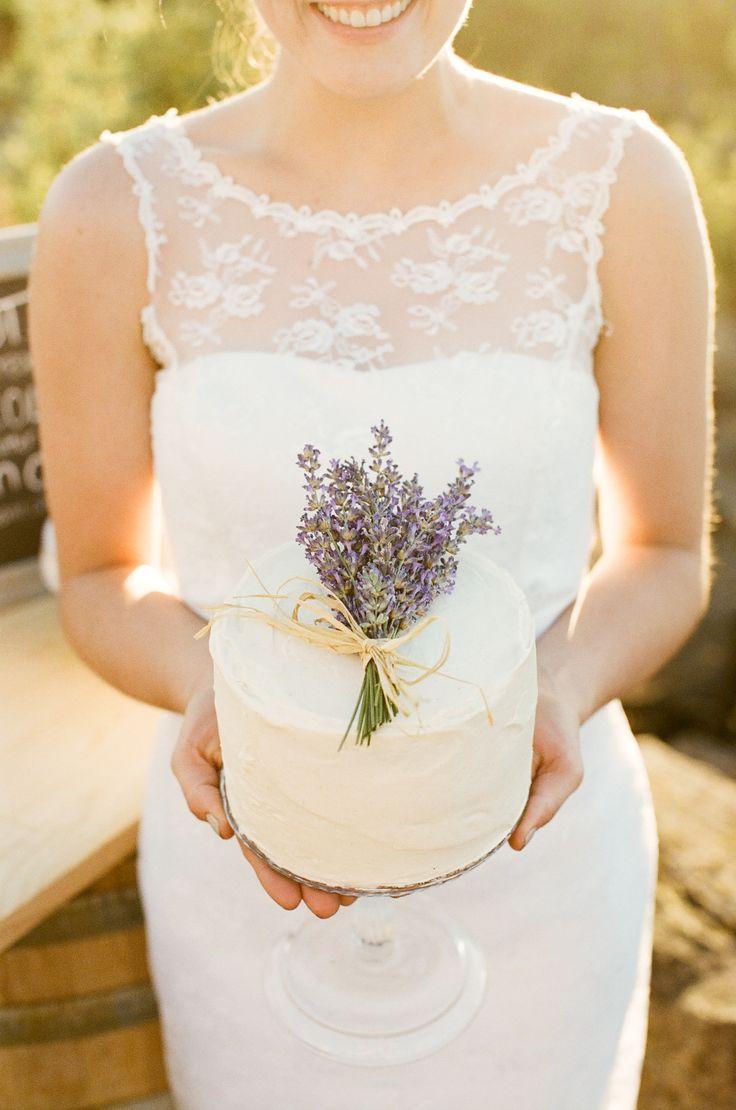 Michelle Cross Photography-Lavender Wedding Cake