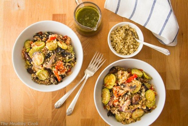Grilled Veggie Salad with Quinoa – Σαλάτα με Ψητά Λαχανικά και Κινόα - The…