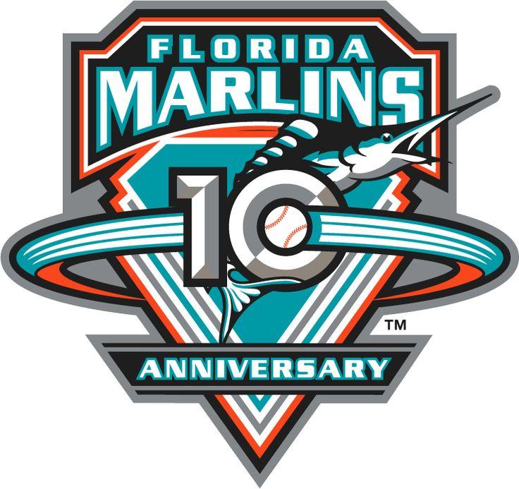 Florida Marlins Anniversary Logo (2003) - Florida Marlins 10th Anniversary