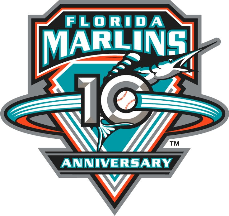 Florida Marlins Anniversary Logo (2003) - Florida Marlins 10th Anniversary