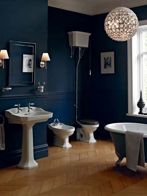 Blue Bathroom best 25+ dark blue bathrooms ideas only on pinterest | dark blue