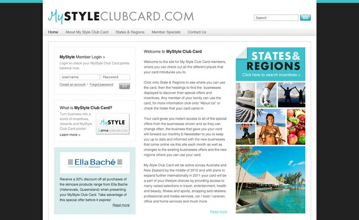 Website design for My Style Club Card. #websitedesign #webdesign #web #design #graphicdesign #website #websites