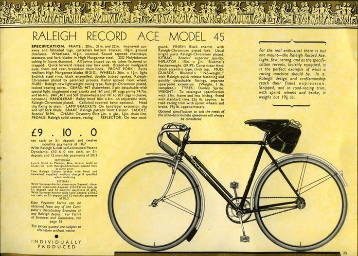 Raleigh Record Ace http://www.bikebrothers.co.uk/ron_files/rra.jpg