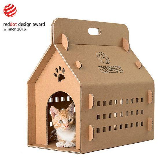 RED DOT award winner! Transport box, travel box, cat carrier, pet carrier, cat transport, cat furniture, carry-box, cat transporter, cat box