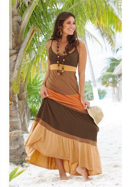 Brown Beach Dress