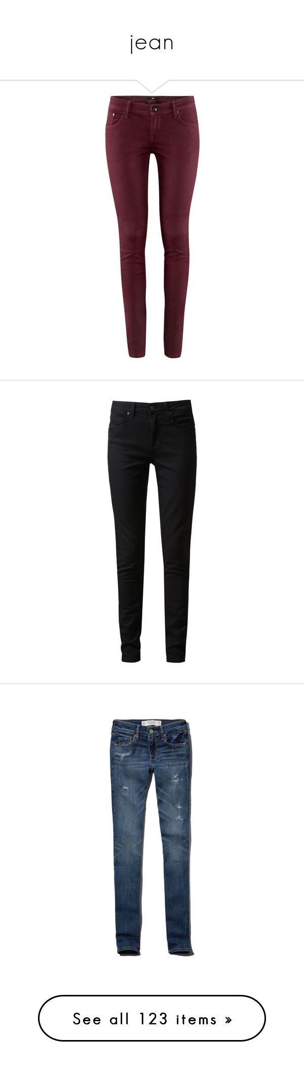 """""""jean"""" by morongo ❤ liked on Polyvore featuring jeans, pants, bottoms, pantalones, calças, plum, h&m skinny jeans, 5 pocket jeans, plum jeans and skinny fit jeans"""