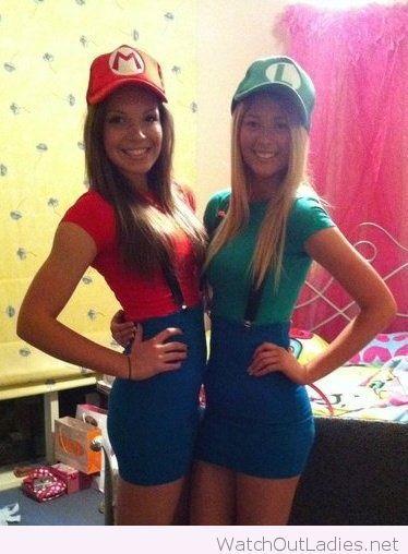 Mario and Luigi girly style costume
