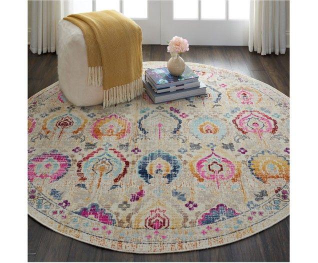 Tappeto rotondo a vello corto Kashan Vintage Round rugs