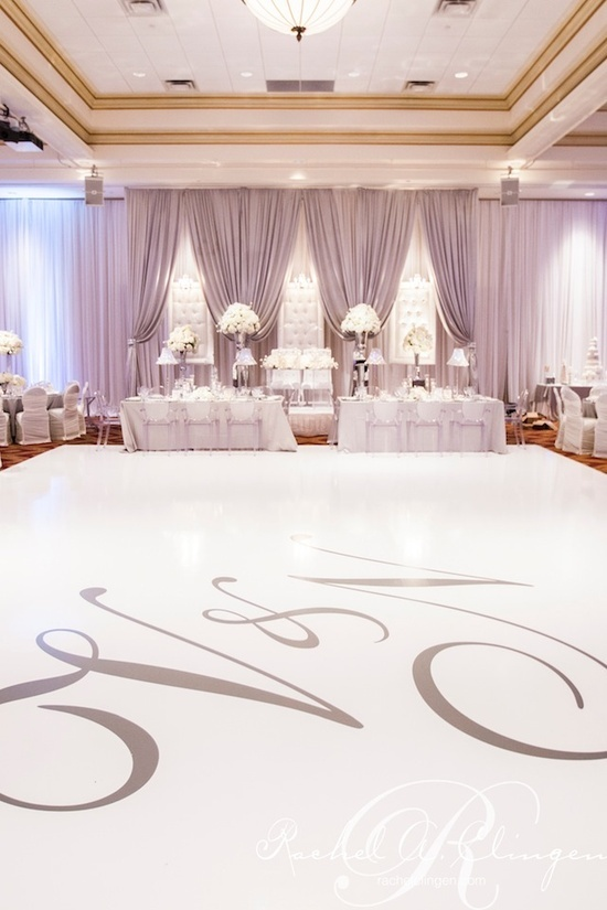 Dance Floor With Monogram Wedding Reception Pinterest