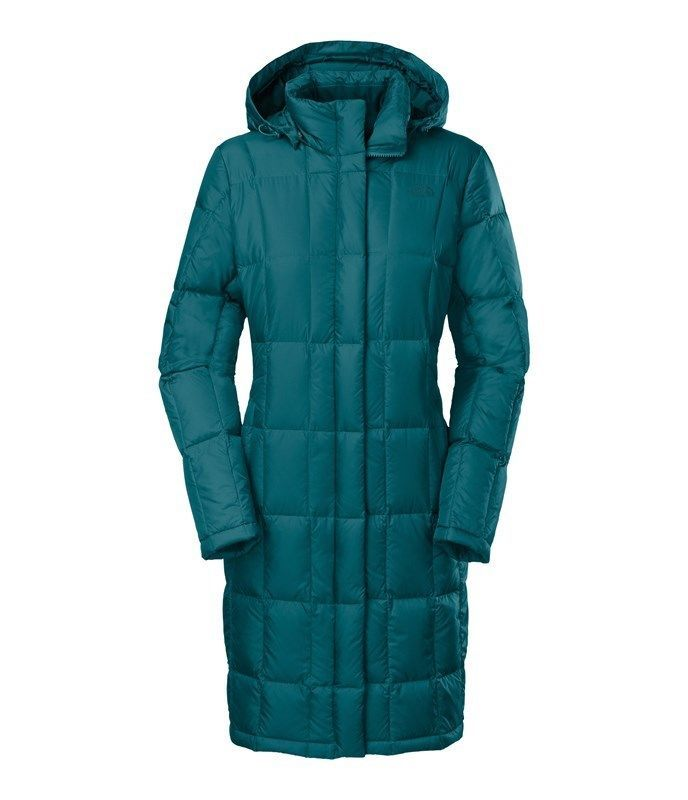 NEW The North Face Women's Miss Metro Parka Large Teal Down Jacket  | eBay