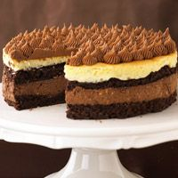 BIttersweet Cheesecake Torte (brownie layers w/ cheesecake makes it simple)