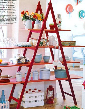 the right ladder , suitably refurbished, makes a great shop display, creates a great impression and it costs peanuts, a win-win.