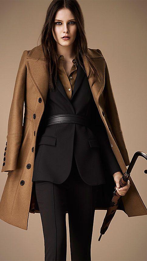 Manteau militaire en laine et cachemire contrecollés | Burberry