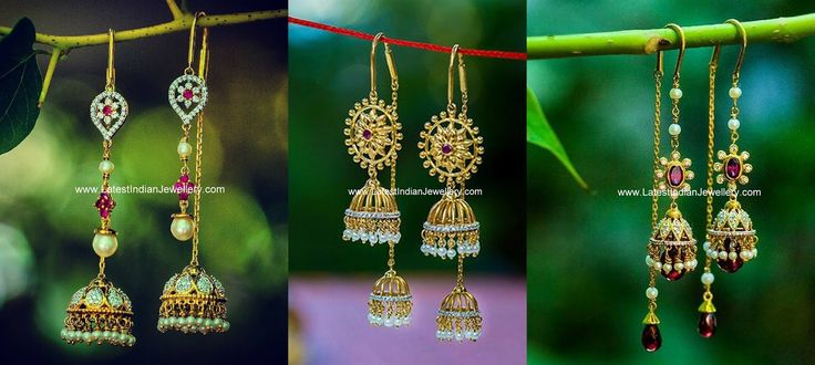 Sui Dhaga Jhumka Earrings