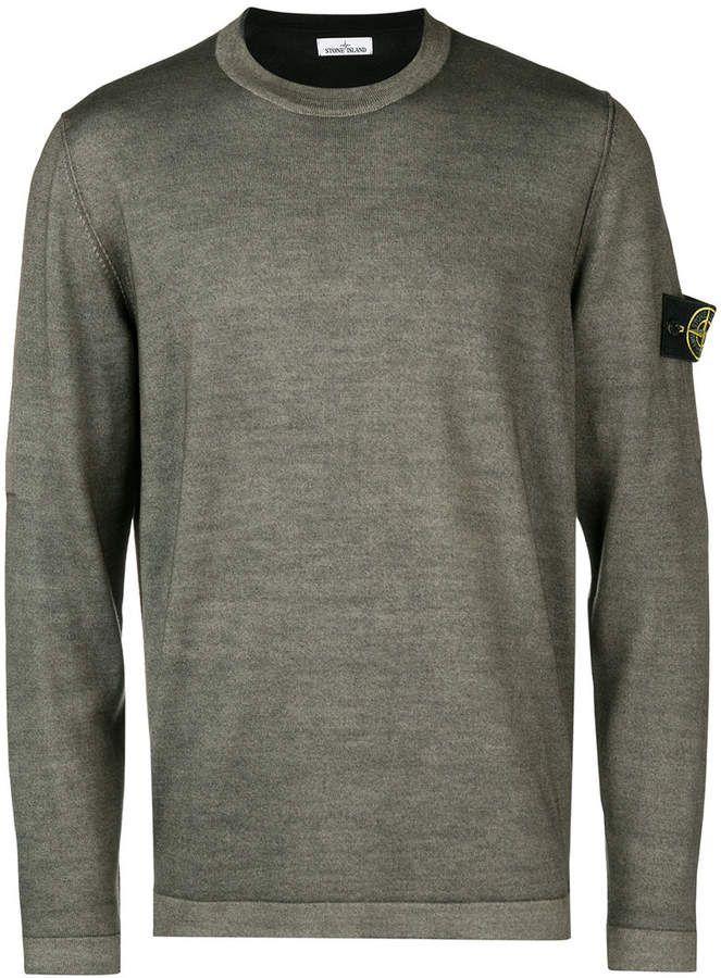 Stone Island Fast Dye Air Brush Knitted Sweater Stone Island Fitted Sweater Sweaters