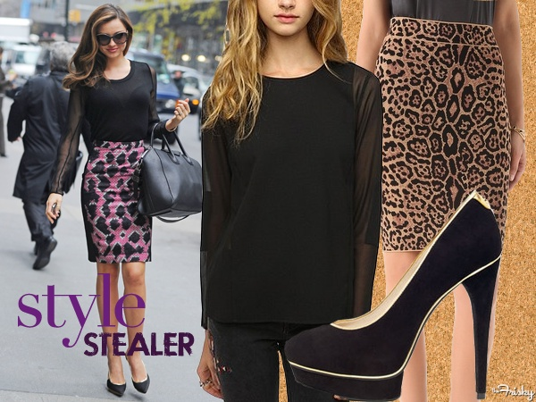 Pair a sexy pair of black heels with a sheet sleeved blouse. #Vday
