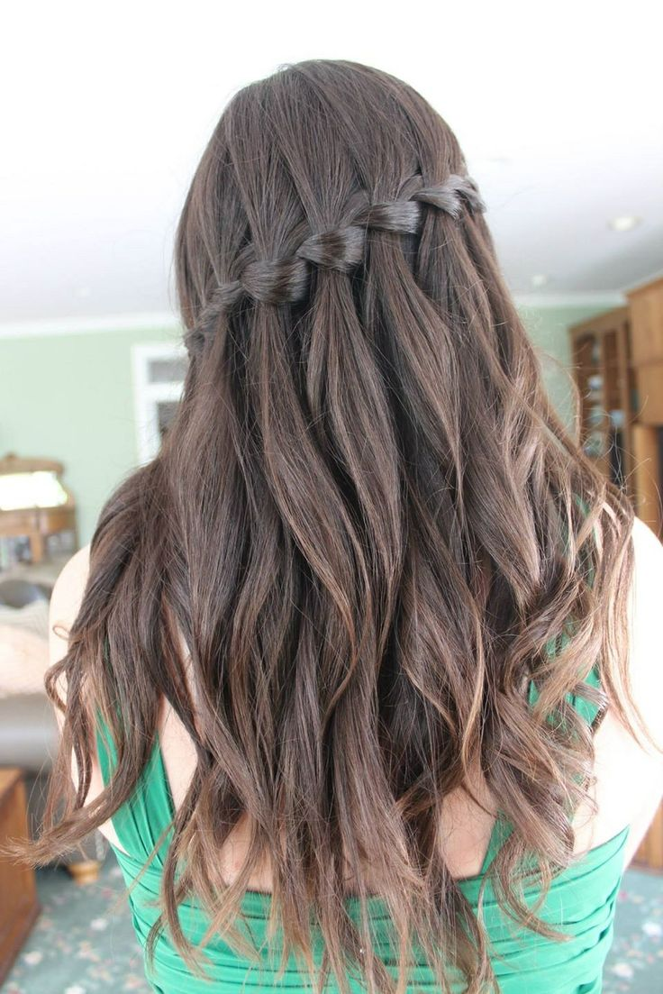 hair styles in braids best 25 waterfall braid prom ideas on 1181
