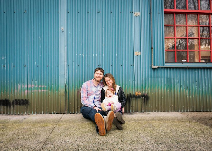 Ginette, Steve, and Andie at a family engagement session - Bake Photography