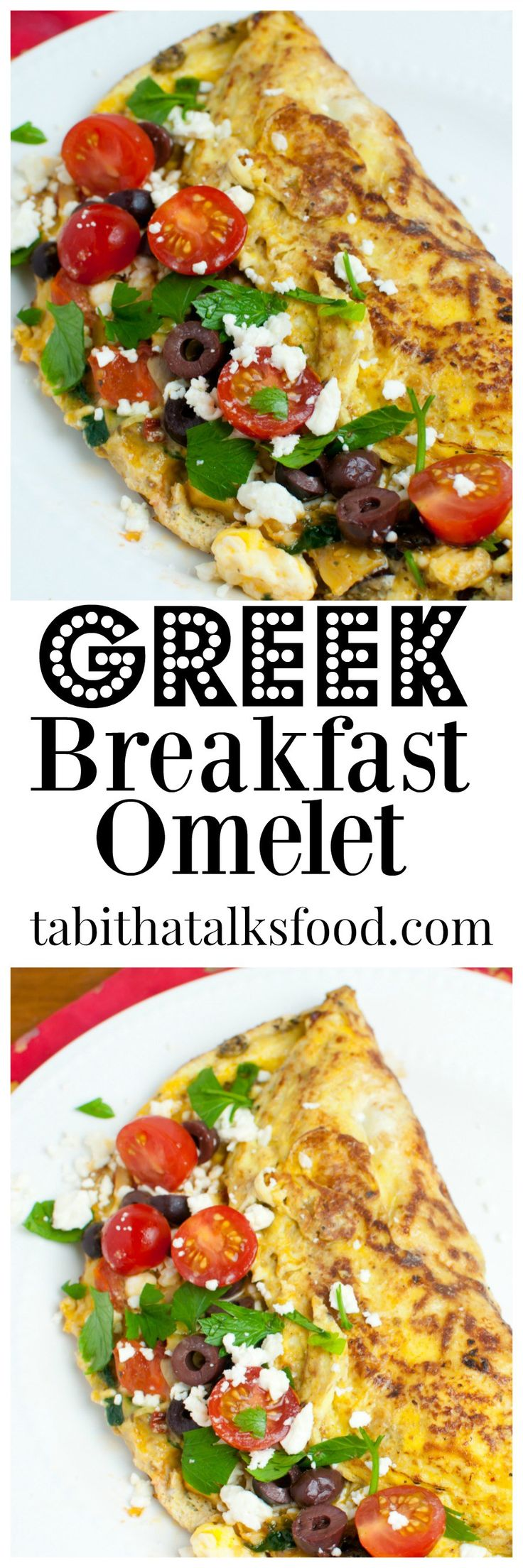 This easy Greek breakfast is made with feta cheese, spinach, artichoke, black olives and tomatoes. It's one of my favorites and takes no time!
